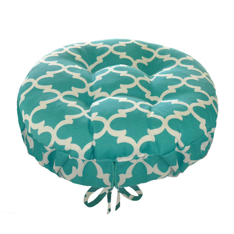 Fulton Ogee Aqua Indoor Outdoor Barstool Cover | Barnett Home Decor