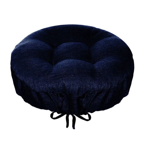 Rave Indigo Blue Indoor/Outdoor Barstool Cover | Barnett Home Decor | Indigo Blue