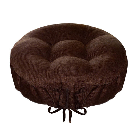 Rave Chocolate Indoor/Outdoor Bar Stool Cover | Barnett Home Decor | Chocolate Brown