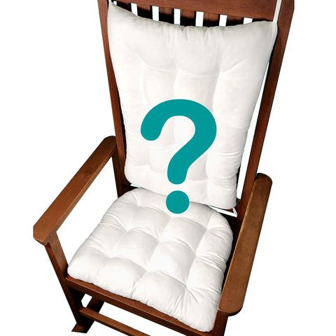 Bargain Bin Rocking Chair Cushions | NON-RETURNABLE | Assorted | New Condition, First Quality | Latex Foam Fill