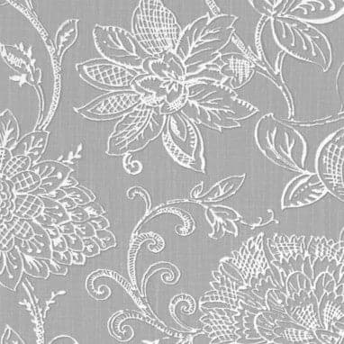 Benson Grey Mini M Valance Window Treatment - Floral