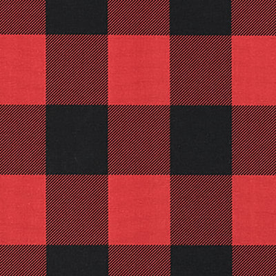88 Buffalo Check Red & Black 60 Swatch