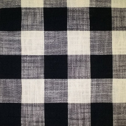 88 Buffalo Plaid Black & White 01 Swatch