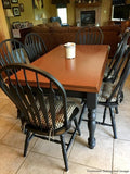 Checkers Black and Tan Plaid Dining Chair Pads - Barnett Home Decor - Black & Tan