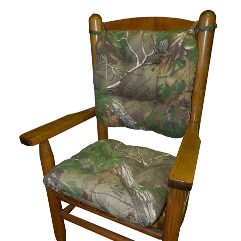 Camo Realtree Xtra Green (R) Child Rocking Chair Cushions | Barnett Home Decor