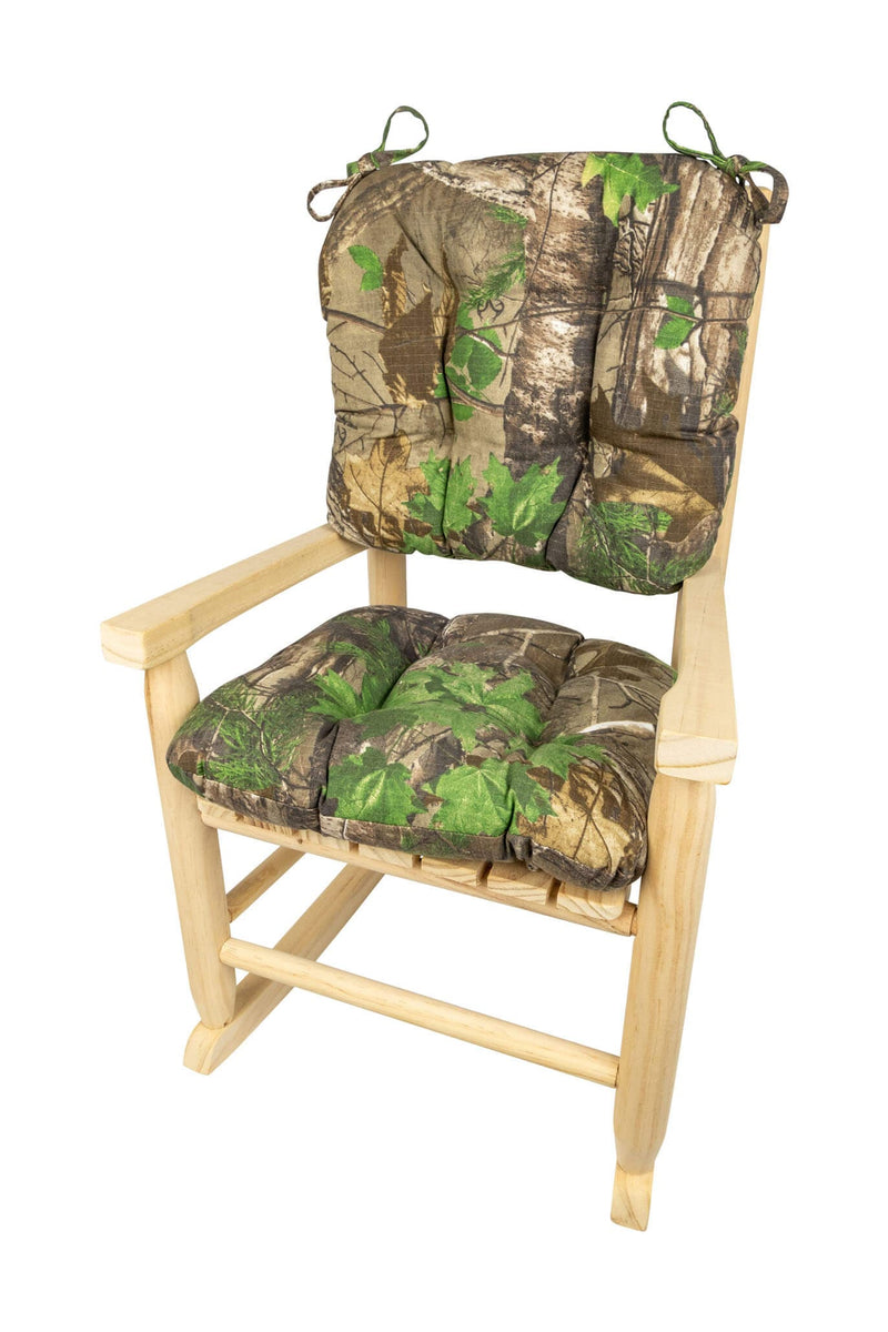 Child Rocking Chair Cushions - Realtree Xtra Green (R) Camo - Made in USA - Machine Washable  sc 1 st  Barnett Home Decor & Child Rocking Chair Cushions - Realtree Xtra Green (R) Camo - Made ...
