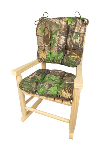 Child Rocking Chair Cushions - Realtree Xtra Green (R) Camo - Made in USA - Machine Washable