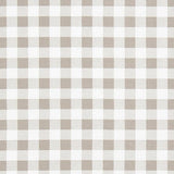 Classic Check Taupe Plaid Rocking Chair Cushions
