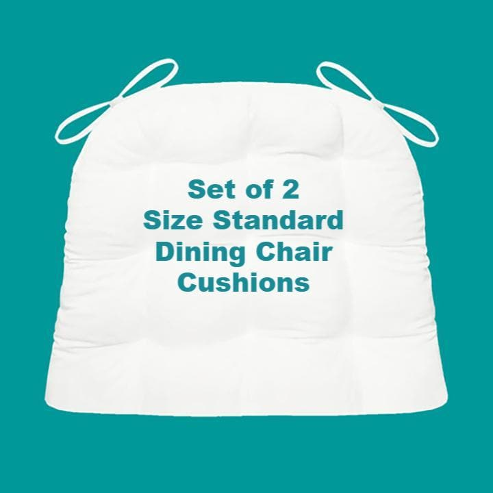 Bargain Bin Size Standard Chair Cushions | Set of 2 | Assorted Colors / Patterns | Non-Returnable