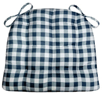 Classic Check Navy Blue Dining Chair Cushions | Barnett Home Decor | Blue | Gingham Check | American