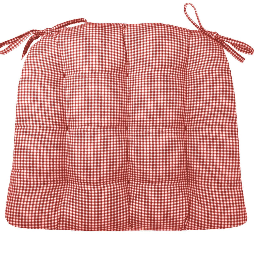 Madrid Red Gingham | Dining Chair Cushion | Barnett Home Decor