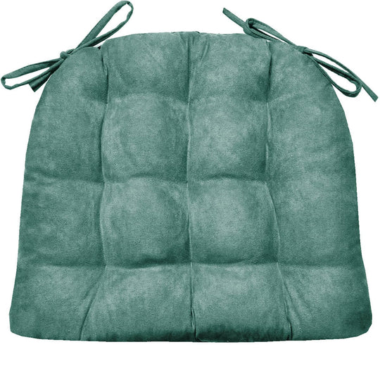 Microsuede Turquoise Dining Chair Cushion | Barnett Home Decor | Turquoise - Aqua - Azure - Teal Blue