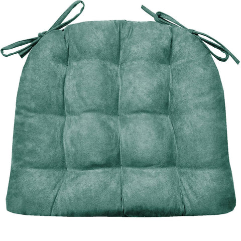 Microsuede Turquoise Dining Chair Cushion | Barnett Home Decor | Turquoise