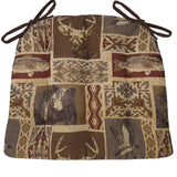 Wilderness Mountainview Dining Chair Cushions - Barnett Home Decor - Brown, Red, & Beige