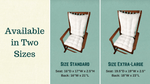 Madrid Lake Blue Gingham Rocking Chair Cushions