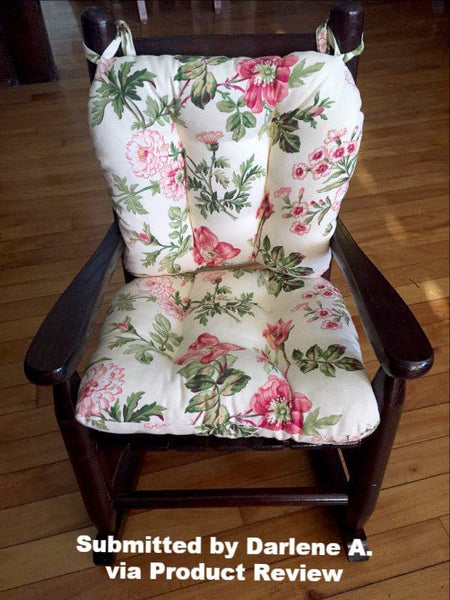 Child Rocking Chair Cushions - Farrell Multi Pink Floral