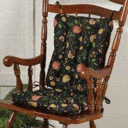 Nassau Floral Rocking Chair Cushion Set - Latex Foam Fill - Reversible