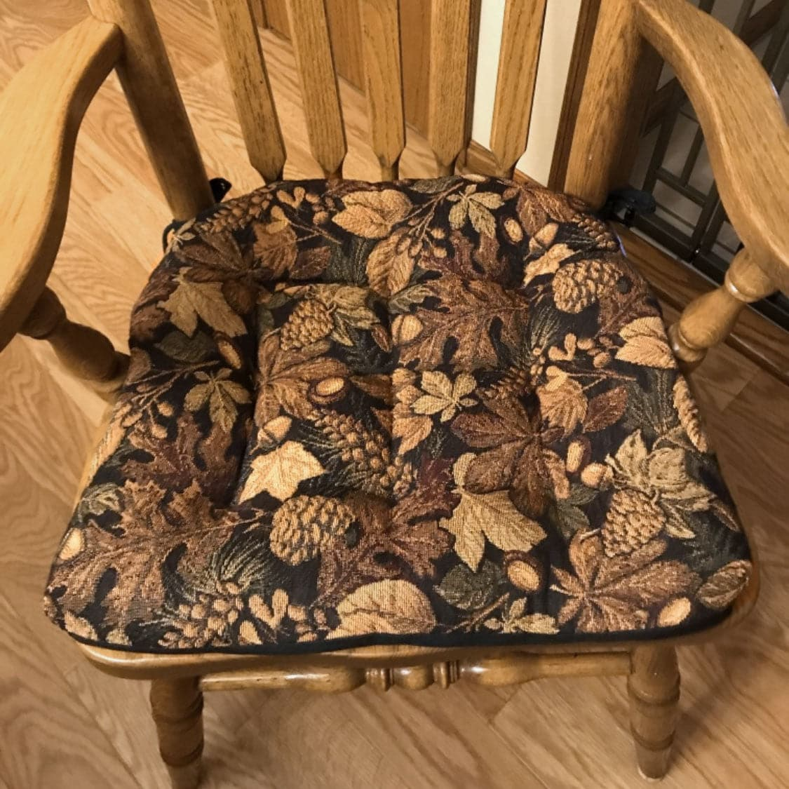 Pleasing Woodlands Forest Floor Dining Chair Pads With Ties Oak Customarchery Wood Chair Design Ideas Customarcherynet