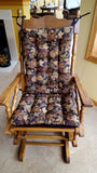 Woodlands Forest Floor Rocking Chair Pads - Barnett Home Decor - Brown, Green, & Black