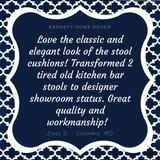 Fulton Ogee Navy Blue Bar Stool Cover - Indoor / Outdoor