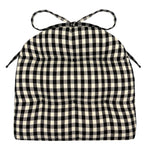 Checkers Black & White Checked Industrial Chair Cushion - Latex Foam Fill