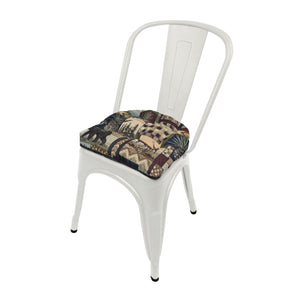 Woodlands Peters Cabin Industrial Chair Cushion  - Latex Foam Fill - Reversible