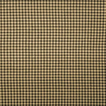 Madrid Black and Tan Gingham Cafe Valances - Straight Tailored Window Treatments