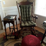 Micro-Suede Laurel Green Rocker Set Customer Submitted Photo