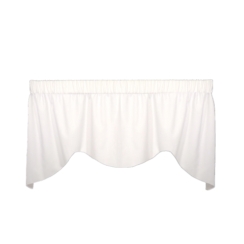 Cotton Duck White Mini M Valance
