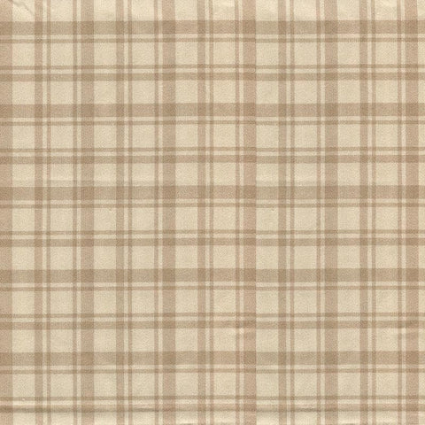 Montgomery Plaid Natural Dining Chair Pads - Latex Foam Fill, Reversible