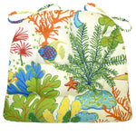 Splish Splash Tropical Coral Reef Fish Dining Chair Pads | Barnett Home Decor