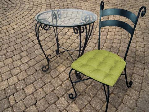 Rave Pear Green Indoor/Outdoor Dining Chair Cushion | Barnett Home Decor | Green