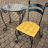 Rave Yellow Gold Indoor/Outdoor Dining Chair Pad - Barnett Home Decor - Gold Yellow