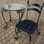 Rave Indigo Blue Indoor / Outdoor Dining Chair Pad - Barnett Home Decor - Blue