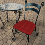 Rave Red Indoor/Outdoor Dining Chair Pads - Barnett Home Decor - Scarlet Red