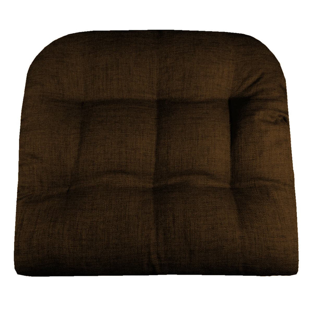 Rave Chocolate Brown Indoor Outdoor Dining Chair Pads Patio