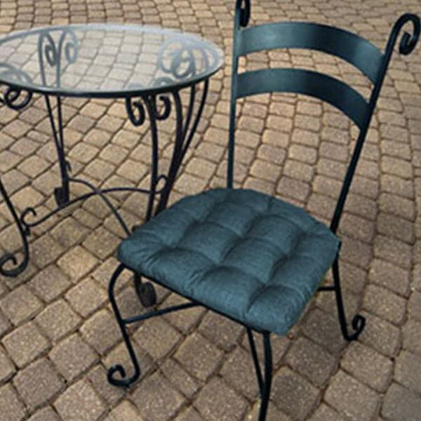 Rave Pacific Blue Indoor / Outdoor Dining Chair Pads & Patio Cushions 1