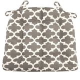 Fulton Ogee Grey Indoor / Ourdoor Dining Chair Pads & Patio Cushions