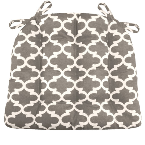 Fulton Ogee Grey Indoor/Outdoor Dining Chair Cushion - Barnett Home Decor - Grey