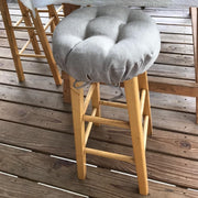 Rave Graphite Grey Barstool Cover - Indoor / Outdoor - Latex Foam Fill Cushion