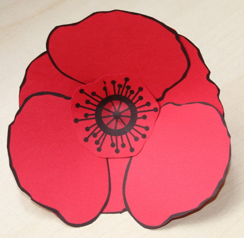 Red Poppy Printable For Memorial Day
