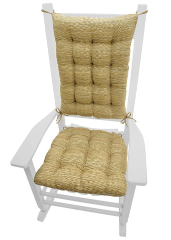 Brisbane Camel Basket Weave - Rocking Chair Cushions - Barnett Home Decor