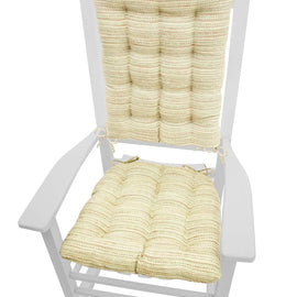 Brisbane Cream Rocking Chair Cushions - Latex Foam Fill, Reversible