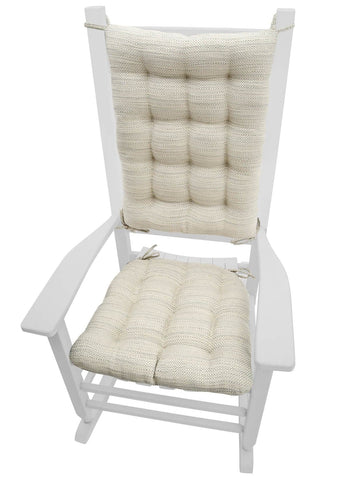 Brisbane Mist Grey Rocking Chair Cushions - Latex Foam Fill - Reversible