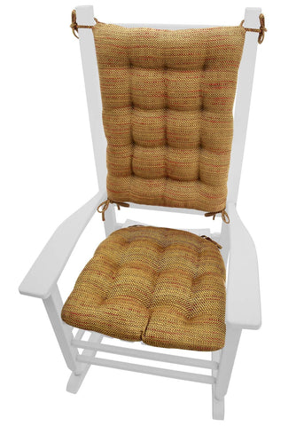 Brisbane Tan Rocking Chair Cushions - Barnett Home Decor - Tan