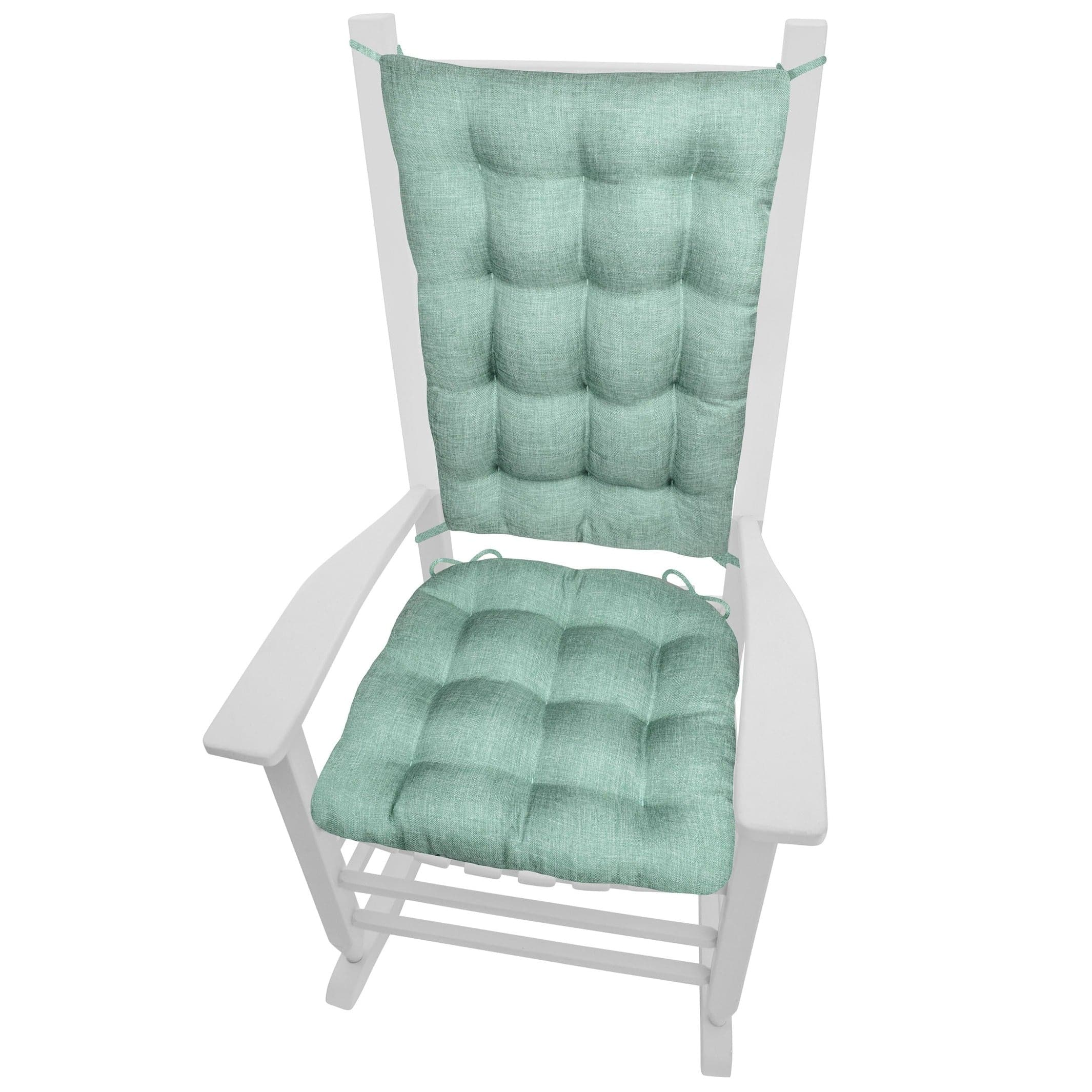 Hayden Turquoise Rocking Chair Cushions - Barnett Home Decor - Teal
