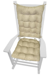 Reverse Side of Gulls Point Dining Chair Cushions to Mircrosuede Beige | Barnett Home Decor
