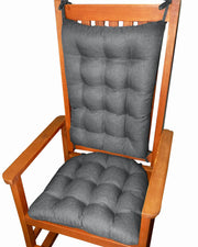 Rave Graphite Grey Indoor/Outdoor Rocking Chair Pads - Barnett Home Decor - Grey