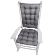 Rave Graphite Grey Indoor/Outdoor Rocking Chair Cushions - Barnett Home Decor - Gray