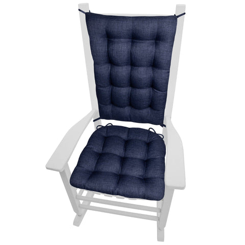 Rave Indigo Blue Indoor/Outdoor Rocking Chair Cushions - Barnett Home Decor - Blue